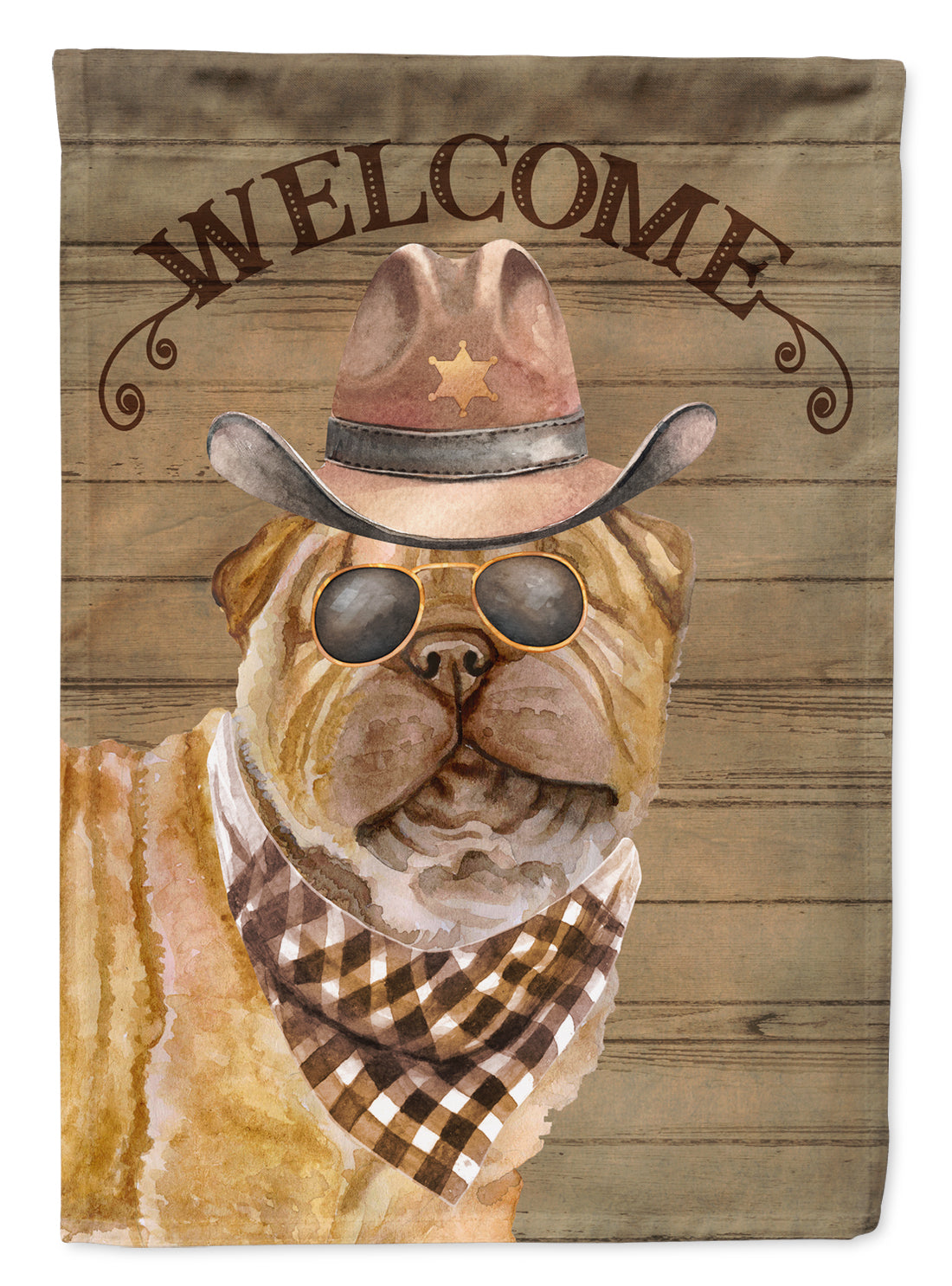 Buy this Shar Pei Country Dog Flag Canvas House Size CK6358CHF