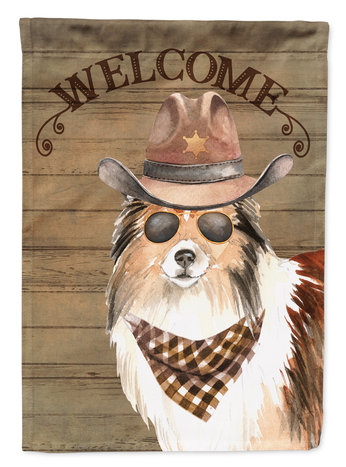 Buy this Sheltie Shetland Sheepdog #2 Country Dog Flag Canvas House Size CK6360CHF