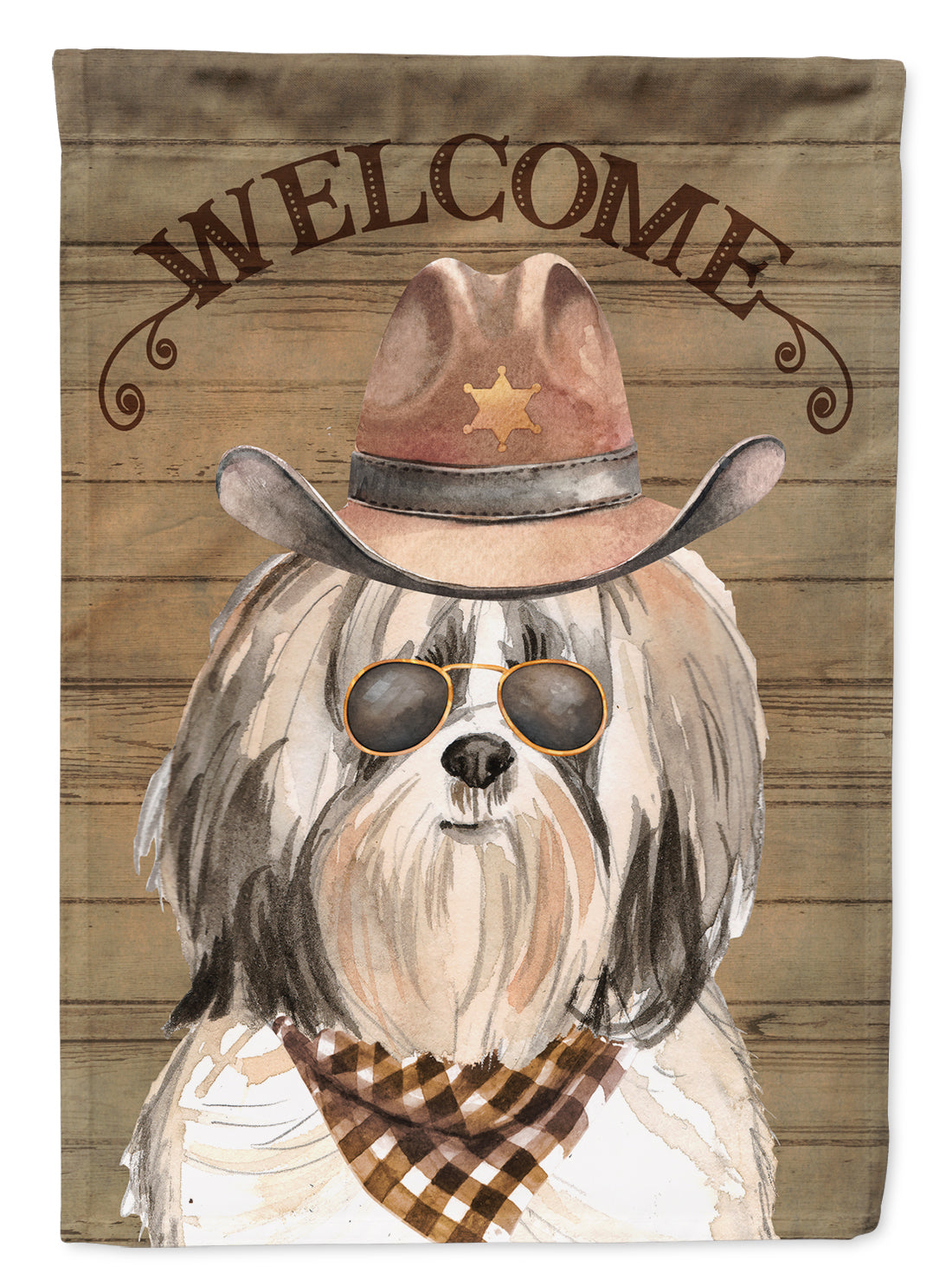 Shih Tzu #2 Country Dog Flag Canvas House Size CK6362CHF by Caroline's Treasures