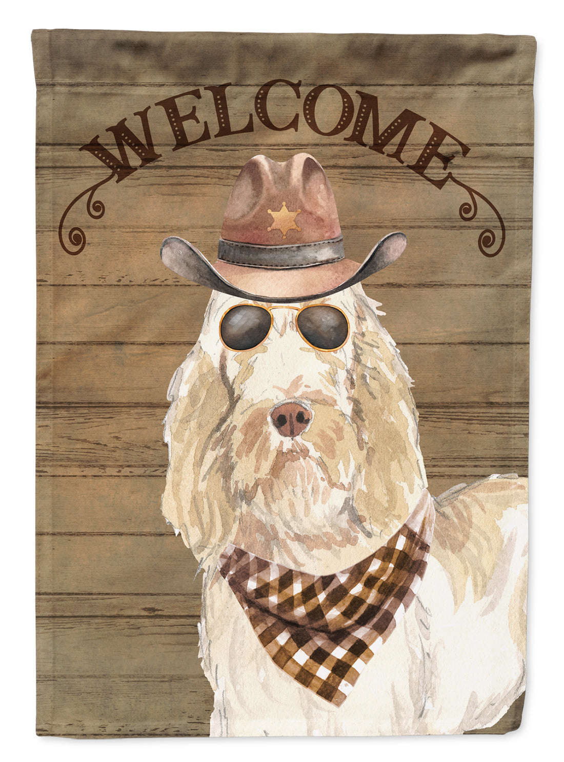 Spinone Italiano Country Dog Flag Canvas House Size CK6366CHF by Caroline's Treasures