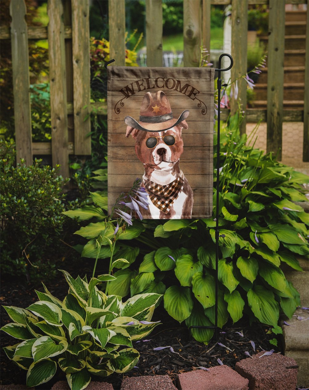 Staffordshire Bull Terrier #3 Country Dog Flag Garden Size CK6367GF by Caroline's Treasures