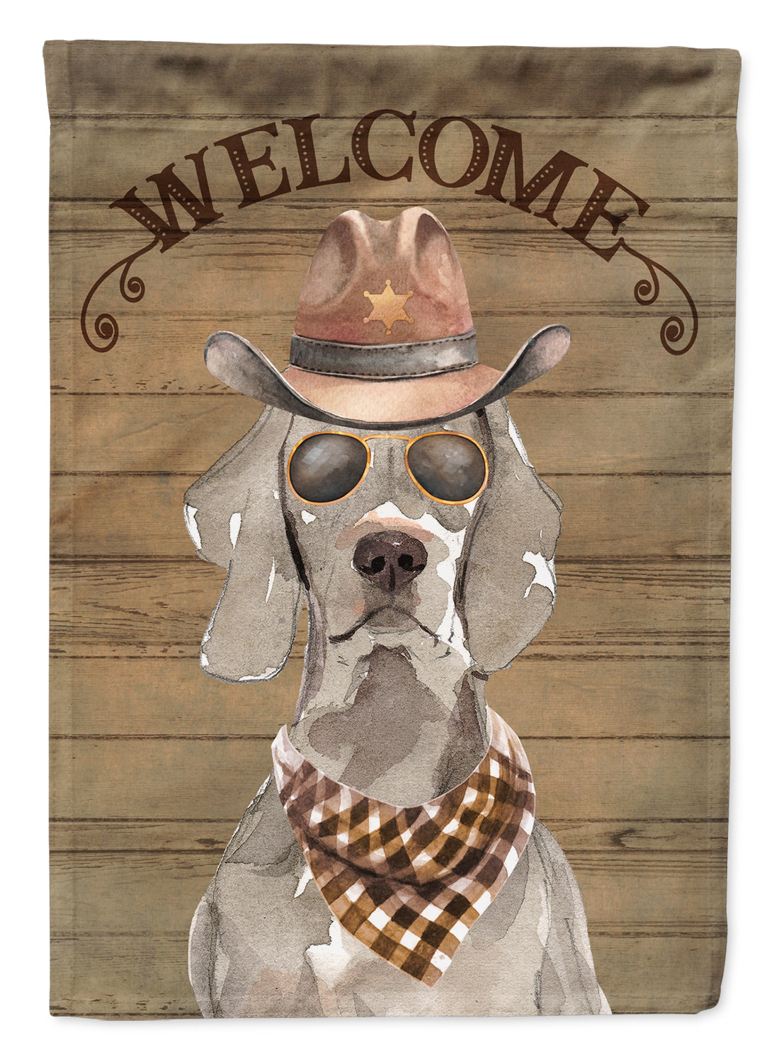 Weimaraner Country Dog Flag Canvas House Size CK6372CHF by Caroline's Treasures