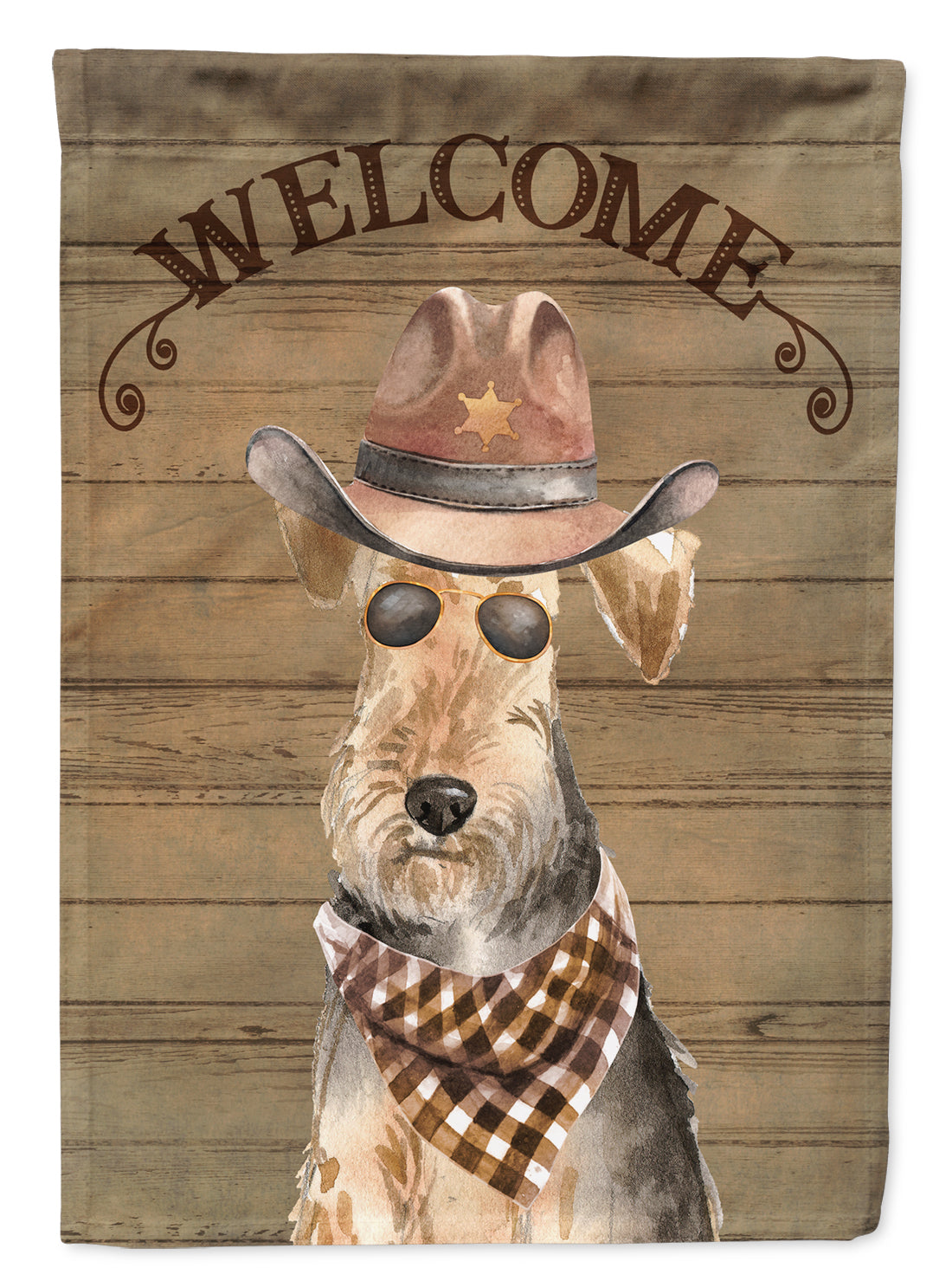 Buy this Welsh Terrier Country Dog Flag Canvas House Size CK6373CHF