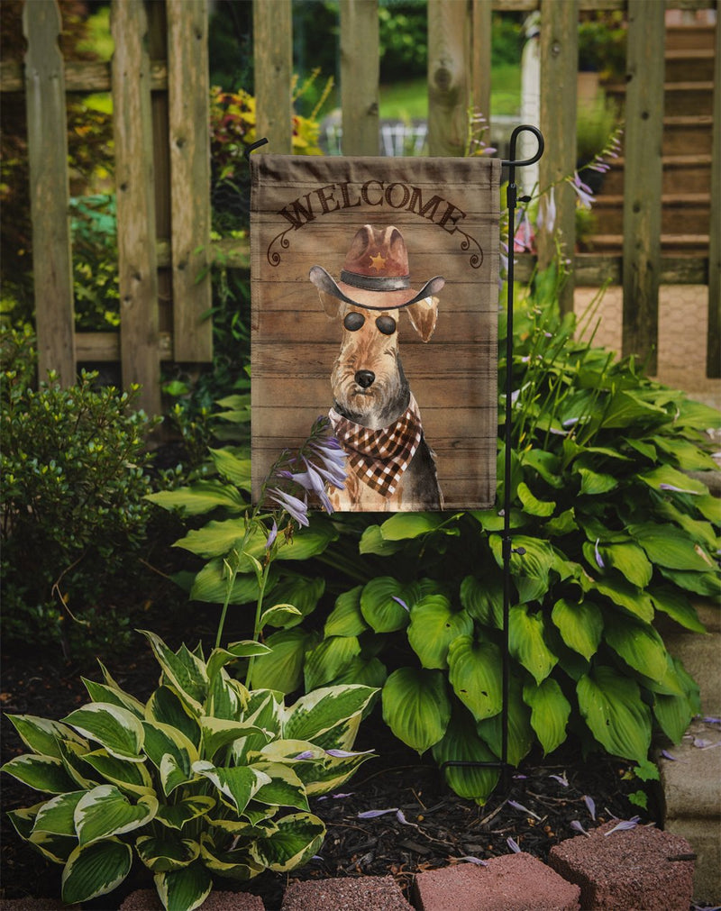 Buy this Welsh Terrier Country Dog Flag Garden Size CK6373GF