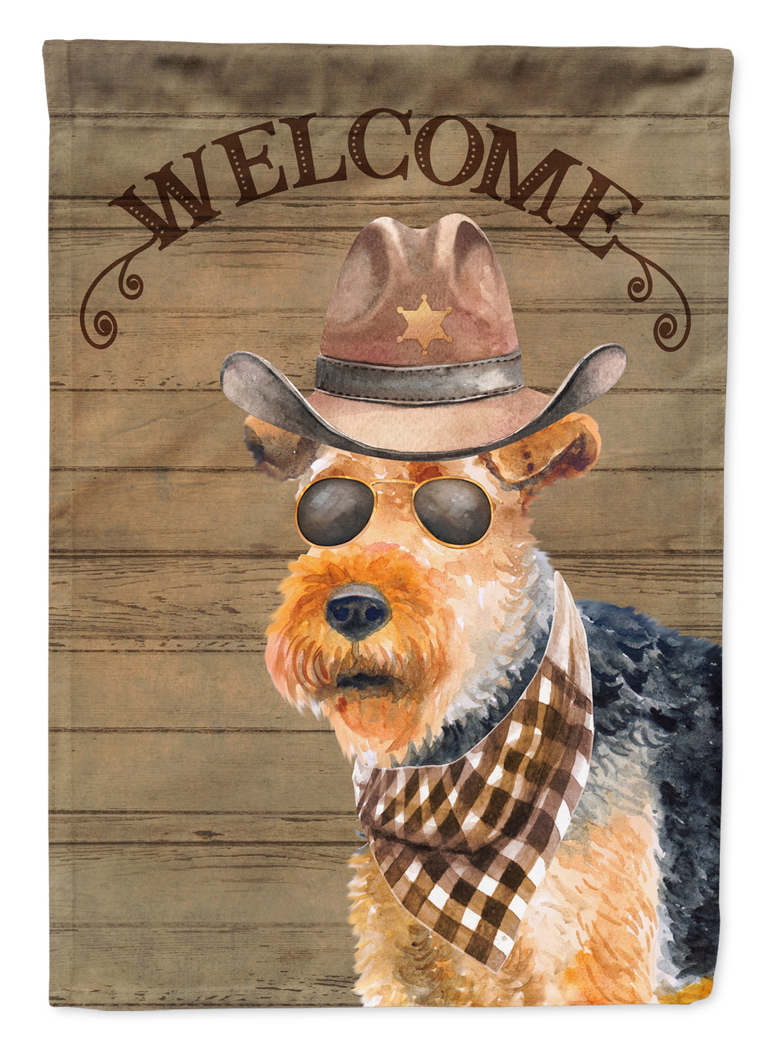 Buy this Welsh Terrier #2 Country Dog Flag Canvas House Size CK6374CHF