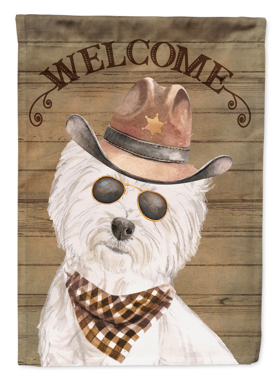 West Highland White Terrier Country Dog Flag Canvas House Size CK6375CHF by Caroline's Treasures