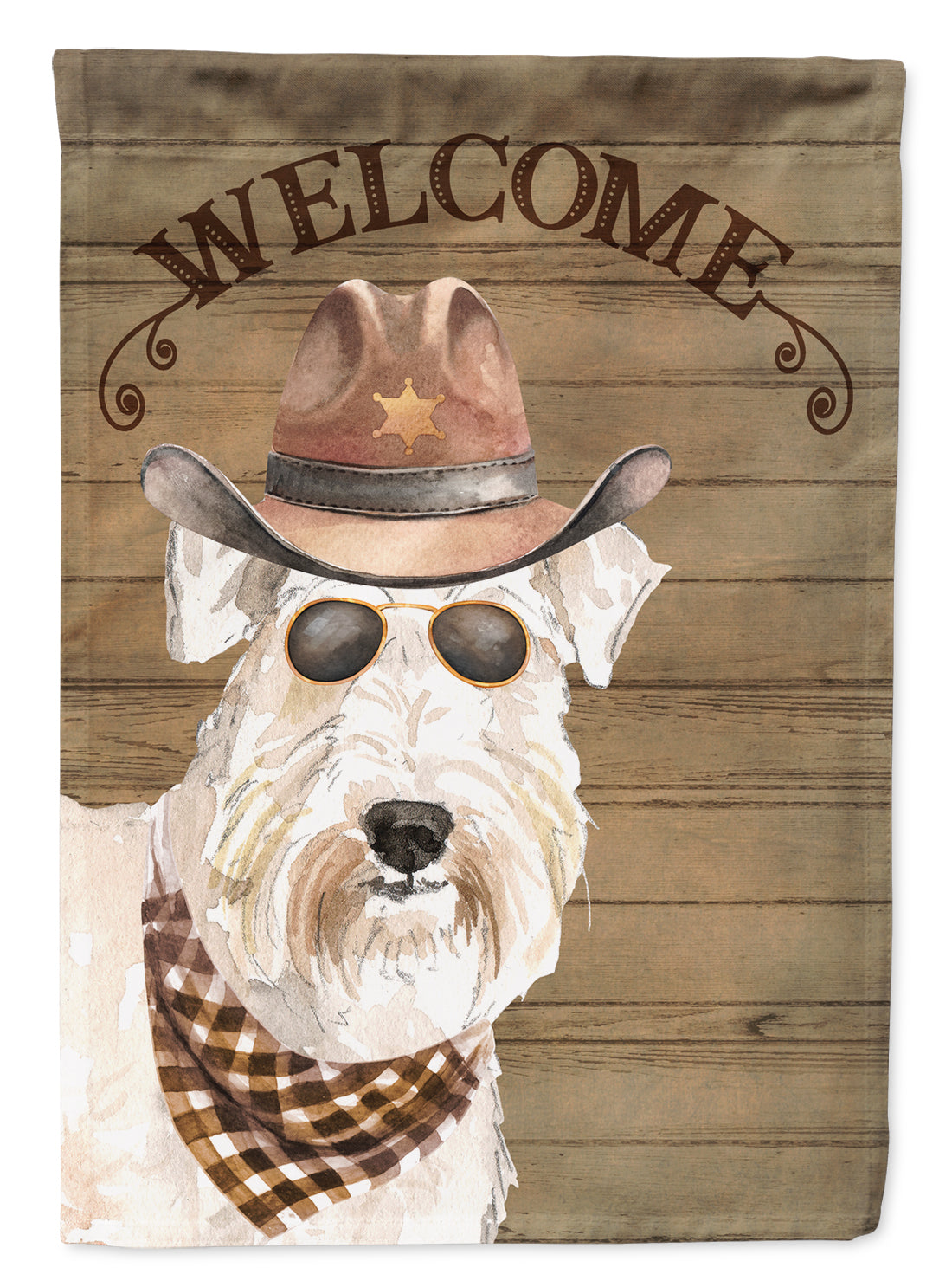 Wheaten Terrier Country Dog Flag Canvas House Size CK6376CHF by Caroline's Treasures