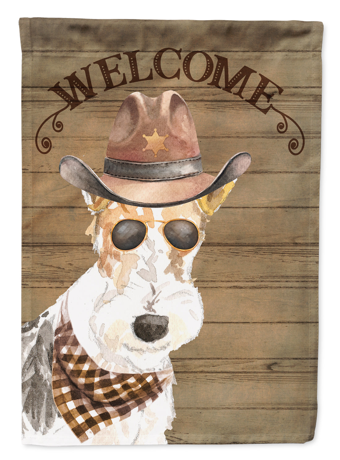 Fox Terrier Country Dog Flag Canvas House Size CK6378CHF by Caroline's Treasures