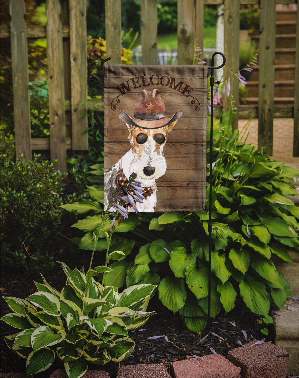 Fox Terrier Country Dog Flag Garden Size CK6378GF by Caroline's Treasures