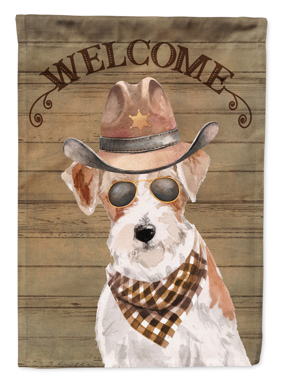 Jack Russell Terrier Country Dog Flag Canvas House Size CK6379CHF by Caroline's Treasures
