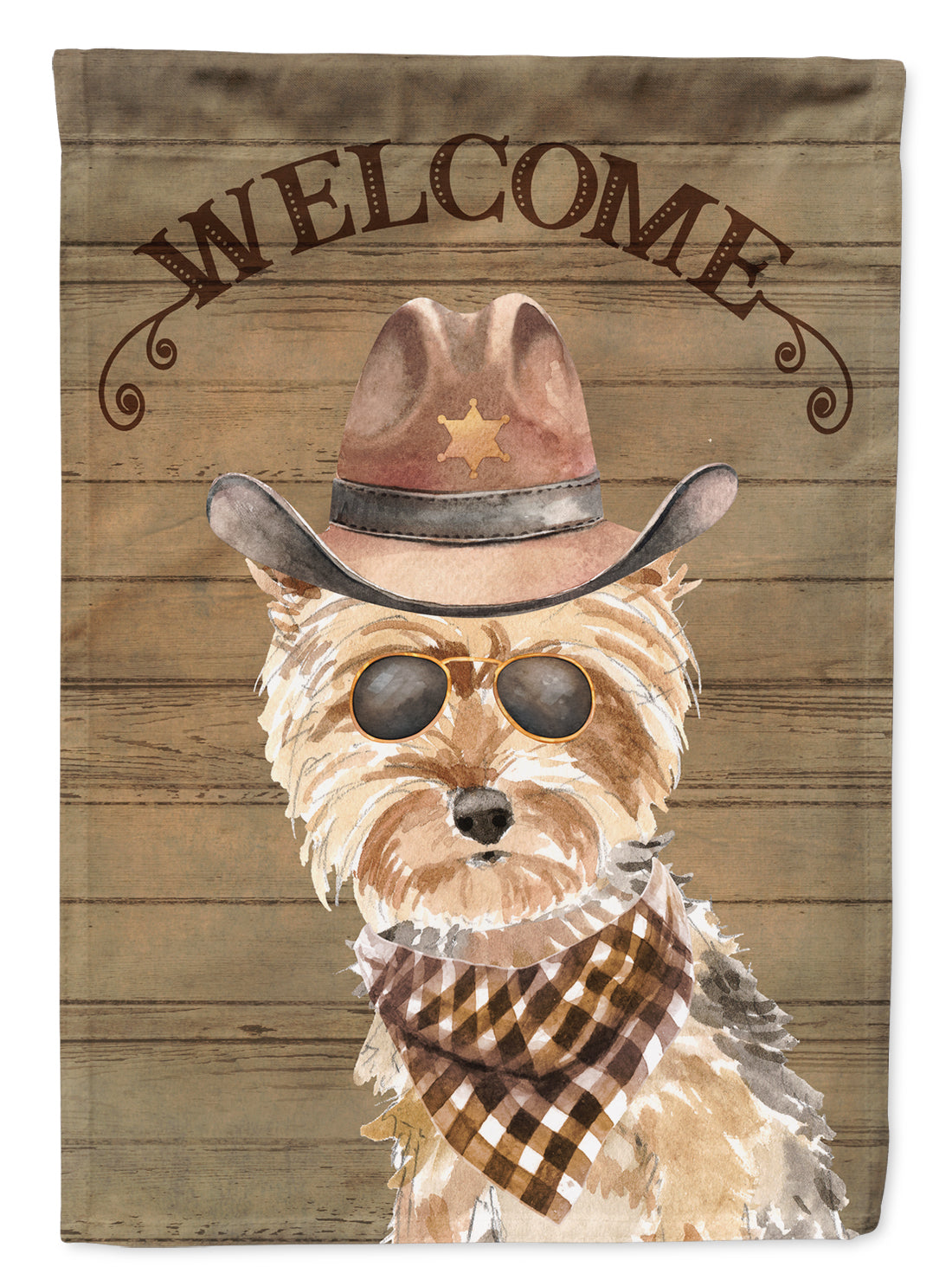 Yorkshire Terrier #2 Country Dog Flag Canvas House Size CK6380CHF by Caroline's Treasures