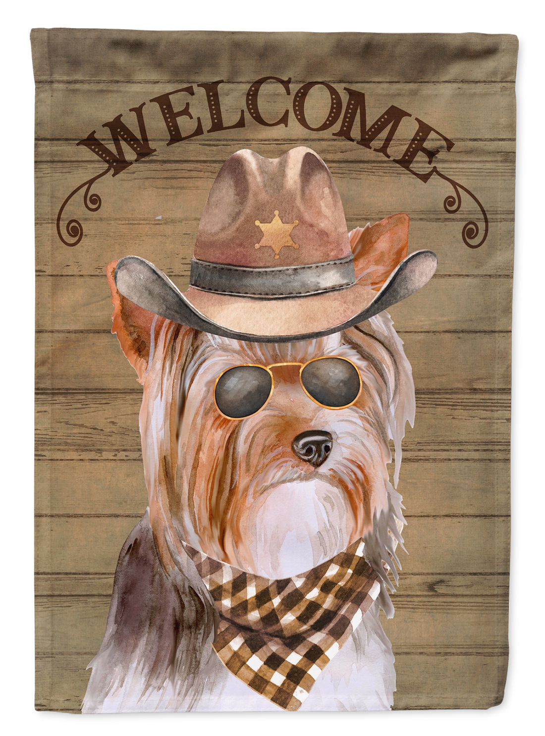 Yorkshire Terrier #3 Country Dog Flag Canvas House Size CK6381CHF by Caroline's Treasures