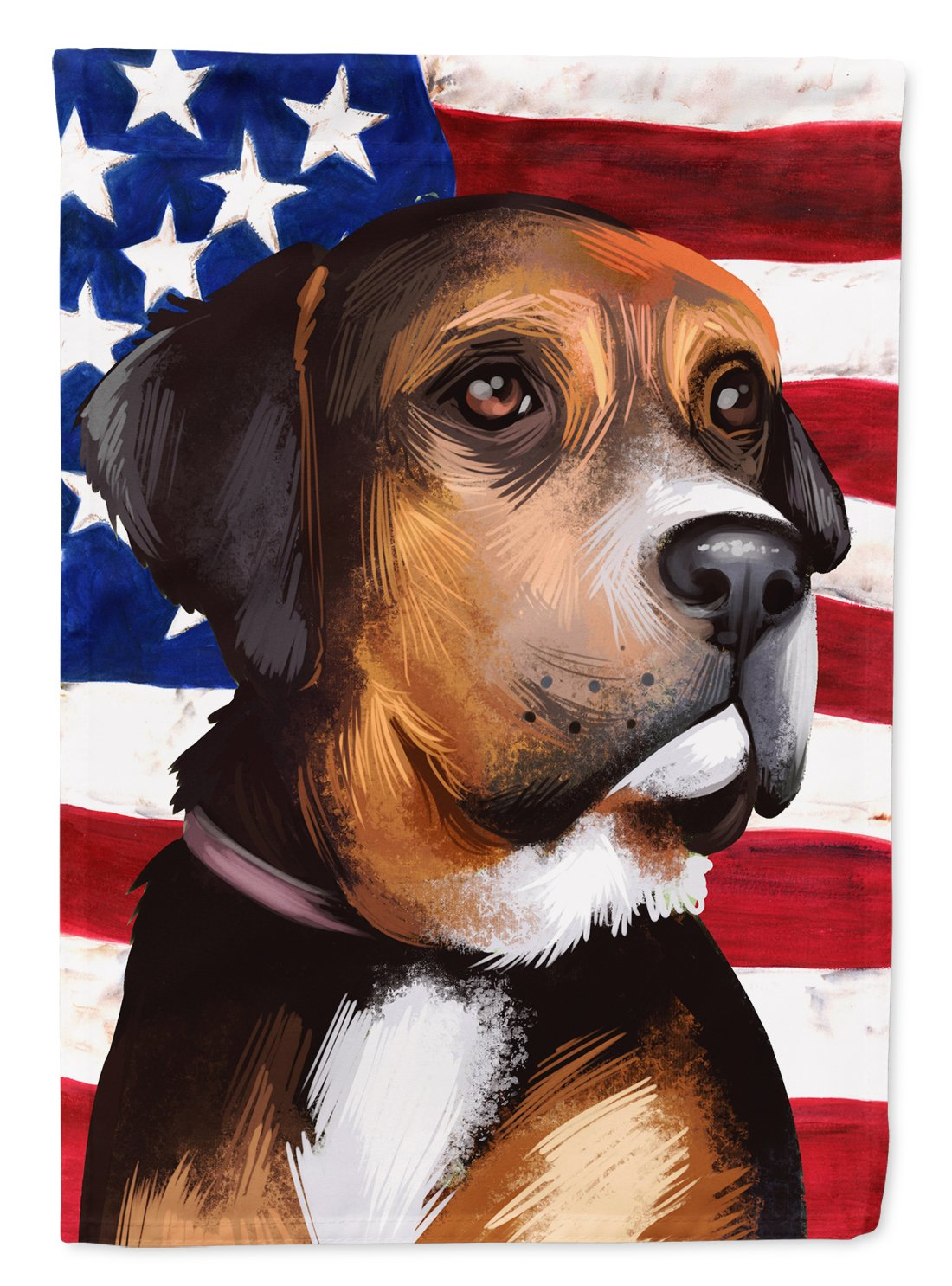 Austrian Black and Tan Hound American Flag Flag Garden Size CK6414GF by Caroline's Treasures