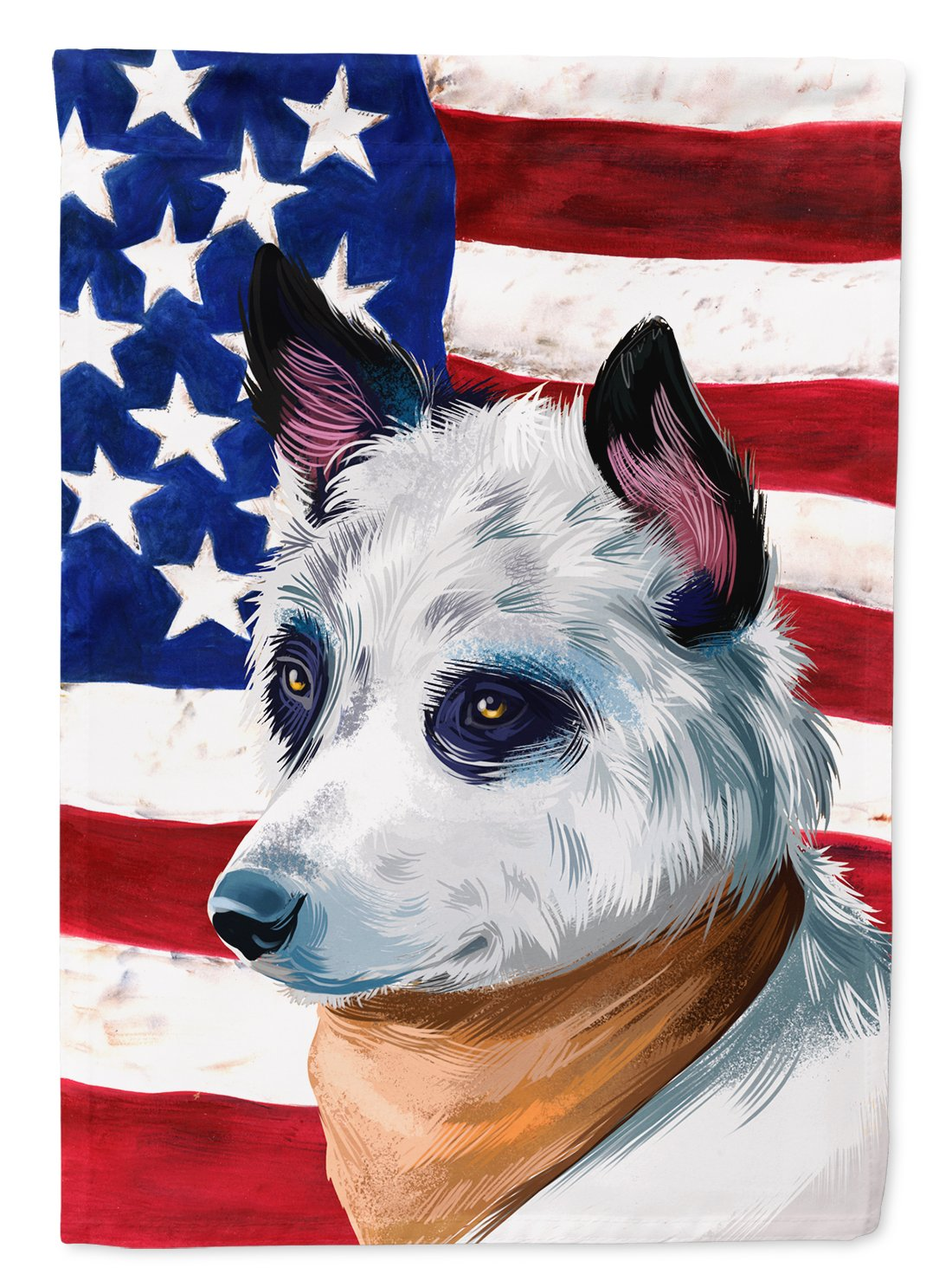 Blue Heeler Dog American Flag Flag Garden Size CK6441GF by Caroline's Treasures