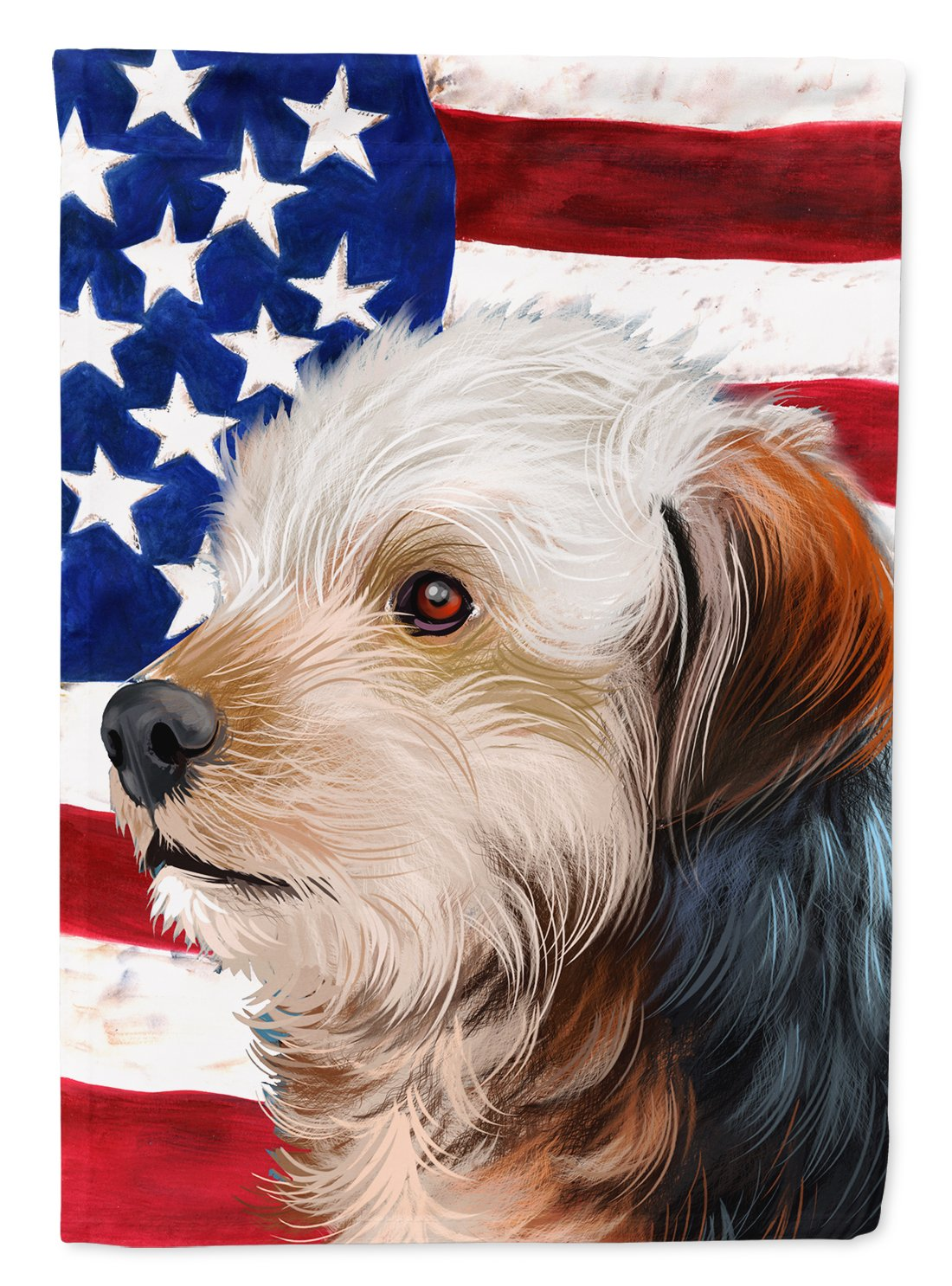 Bosnian Coarse-haired Hound American Flag Flag Garden Size CK6450GF by Caroline's Treasures