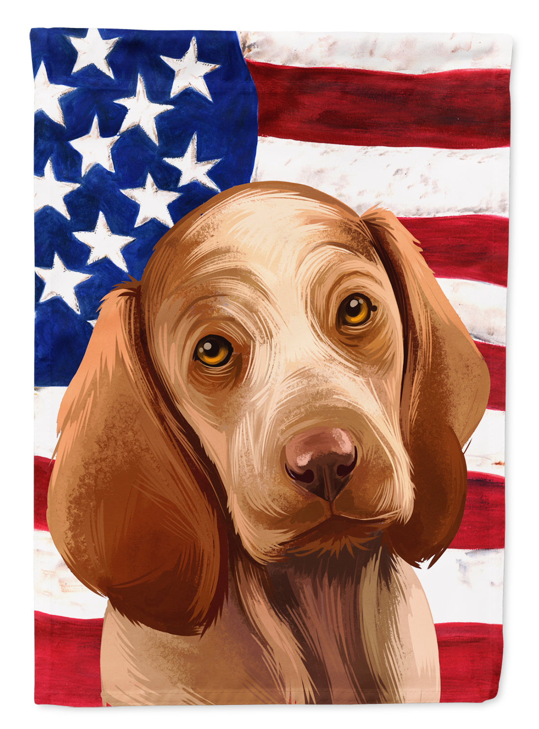 Bracco Italiano Dog American Flag Flag Canvas House Size CK6456CHF by Caroline's Treasures