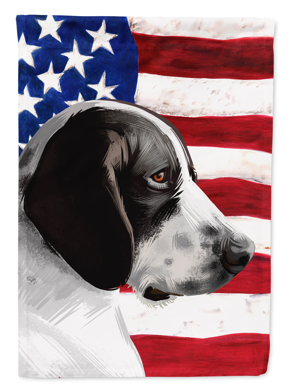 Braque d'Auvergne Dog American Flag Flag Canvas House Size CK6457CHF by Caroline's Treasures