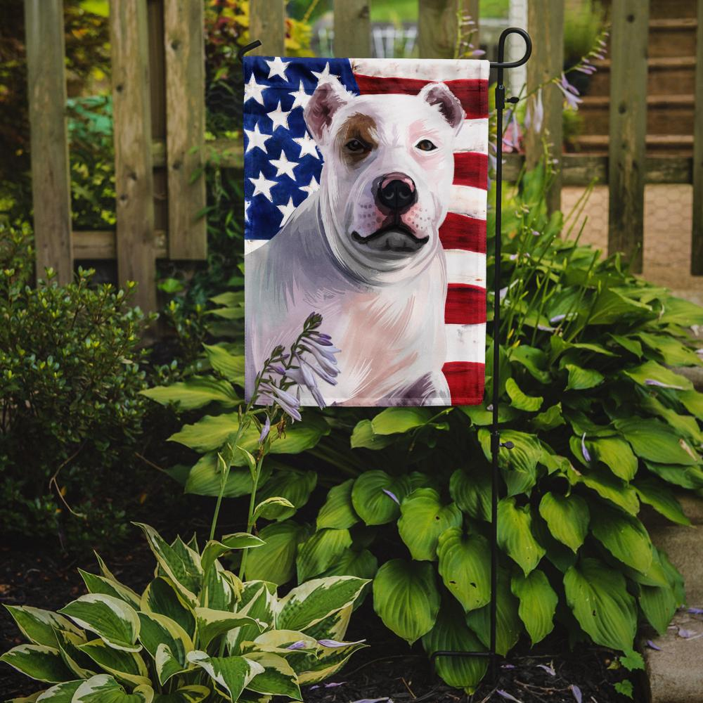 Bully Kutta Dog American Flag Flag Garden Size CK6470GF by Caroline's Treasures