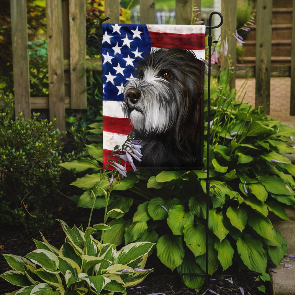 Buy this Catalan Sheepdog Dog American Flag Flag Garden Size CK6480GF