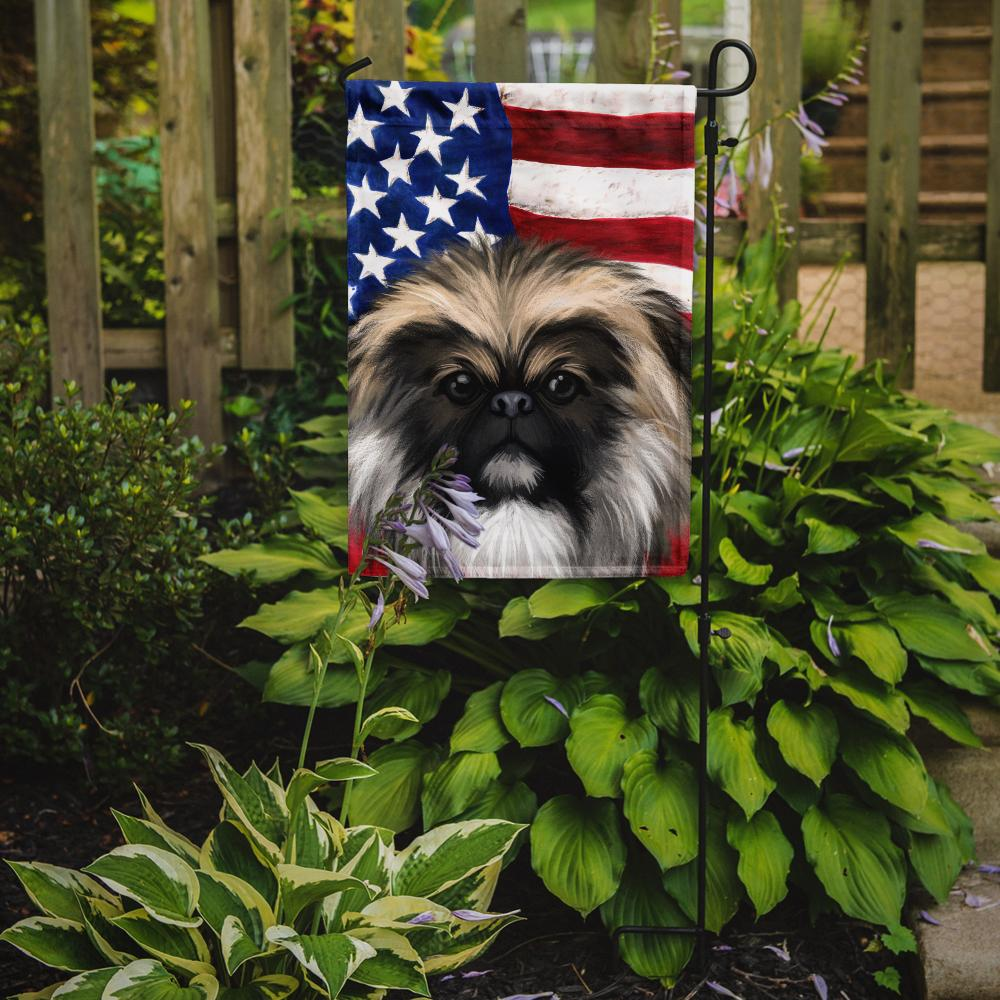 Chinese Imperial Dog American Flag Flag Garden Size CK6488GF by Caroline's Treasures