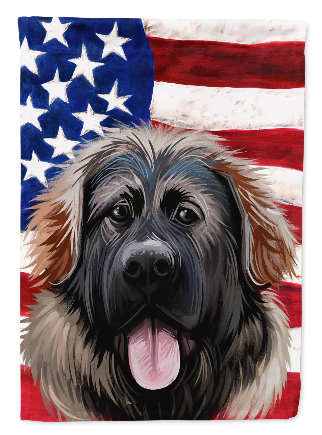 Georgian Shepherd Dog American Flag Flag Garden Size CK6532GF by Caroline's Treasures
