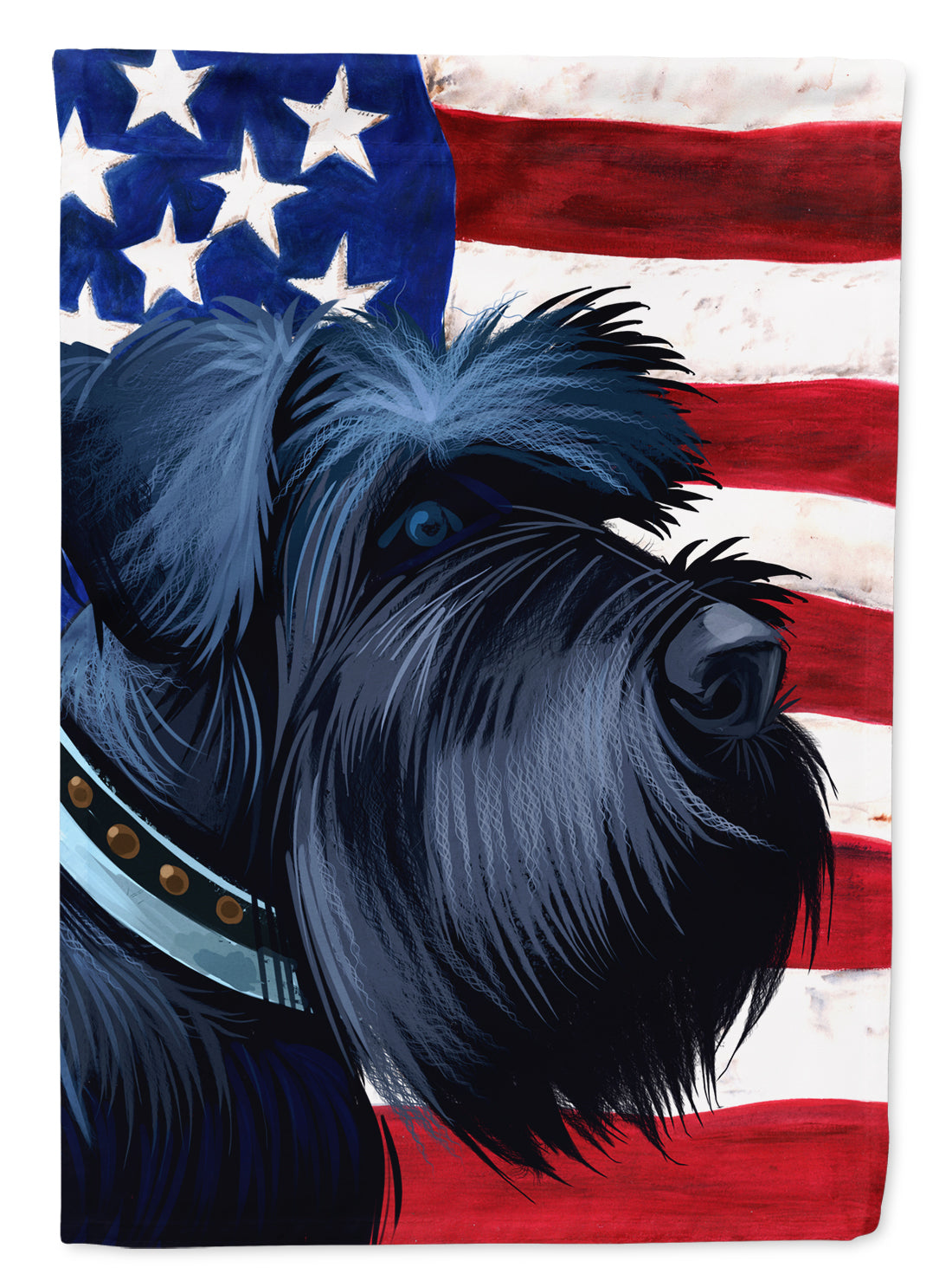 Buy this Giant Schnauzer Dog American Flag Flag Canvas House Size CK6540CHF