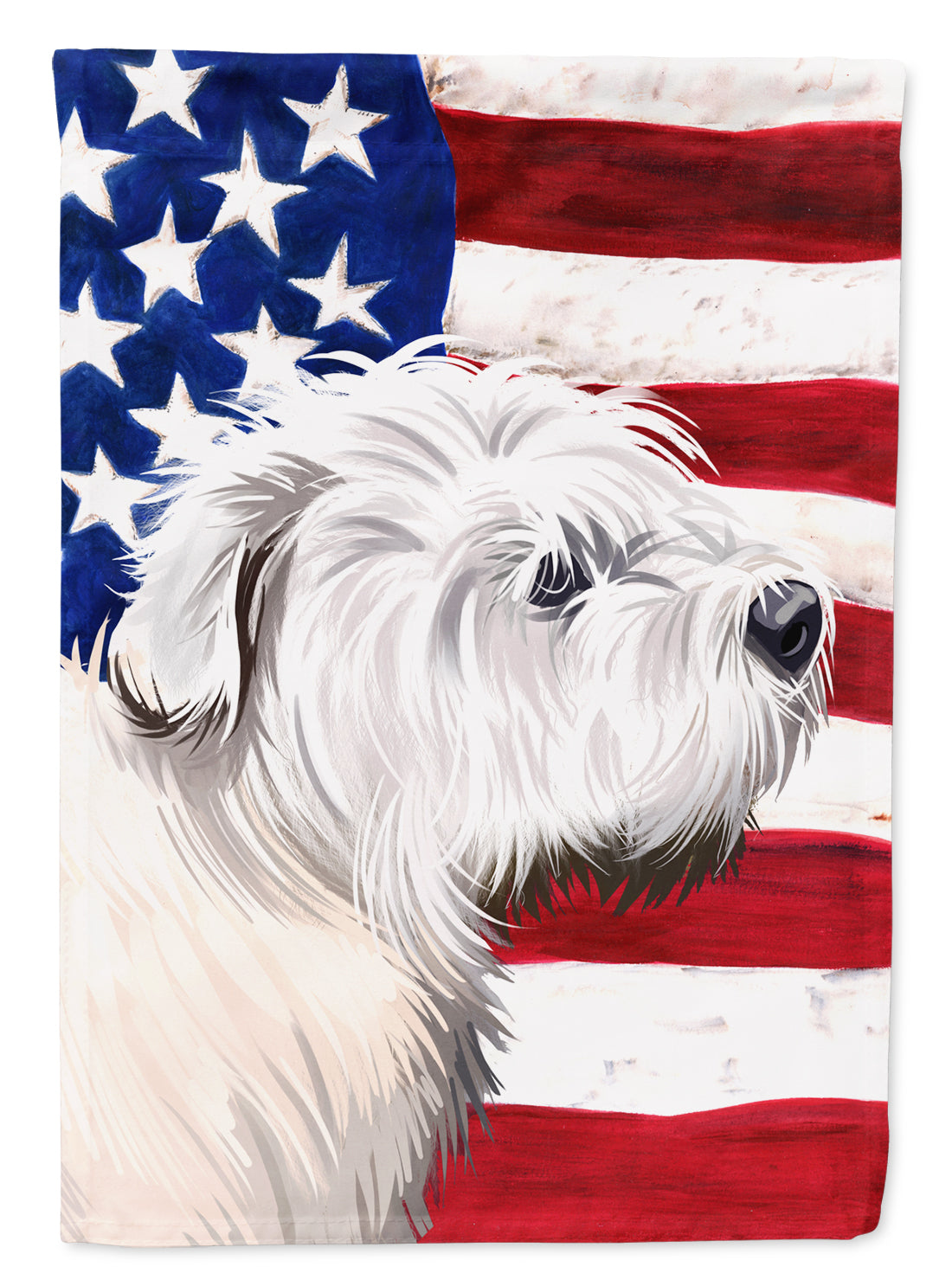 Glen of Imaal Terrier American Flag Flag Canvas House Size CK6541CHF by Caroline's Treasures