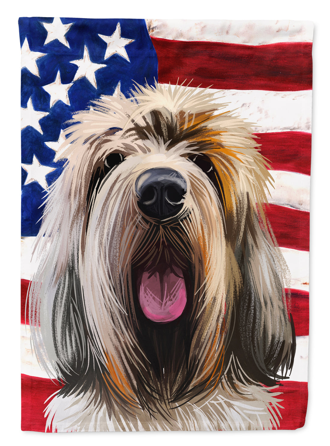 Grand Griffon Vendeen Dog American Flag Flag Canvas House Size CK6545CHF by Caroline's Treasures