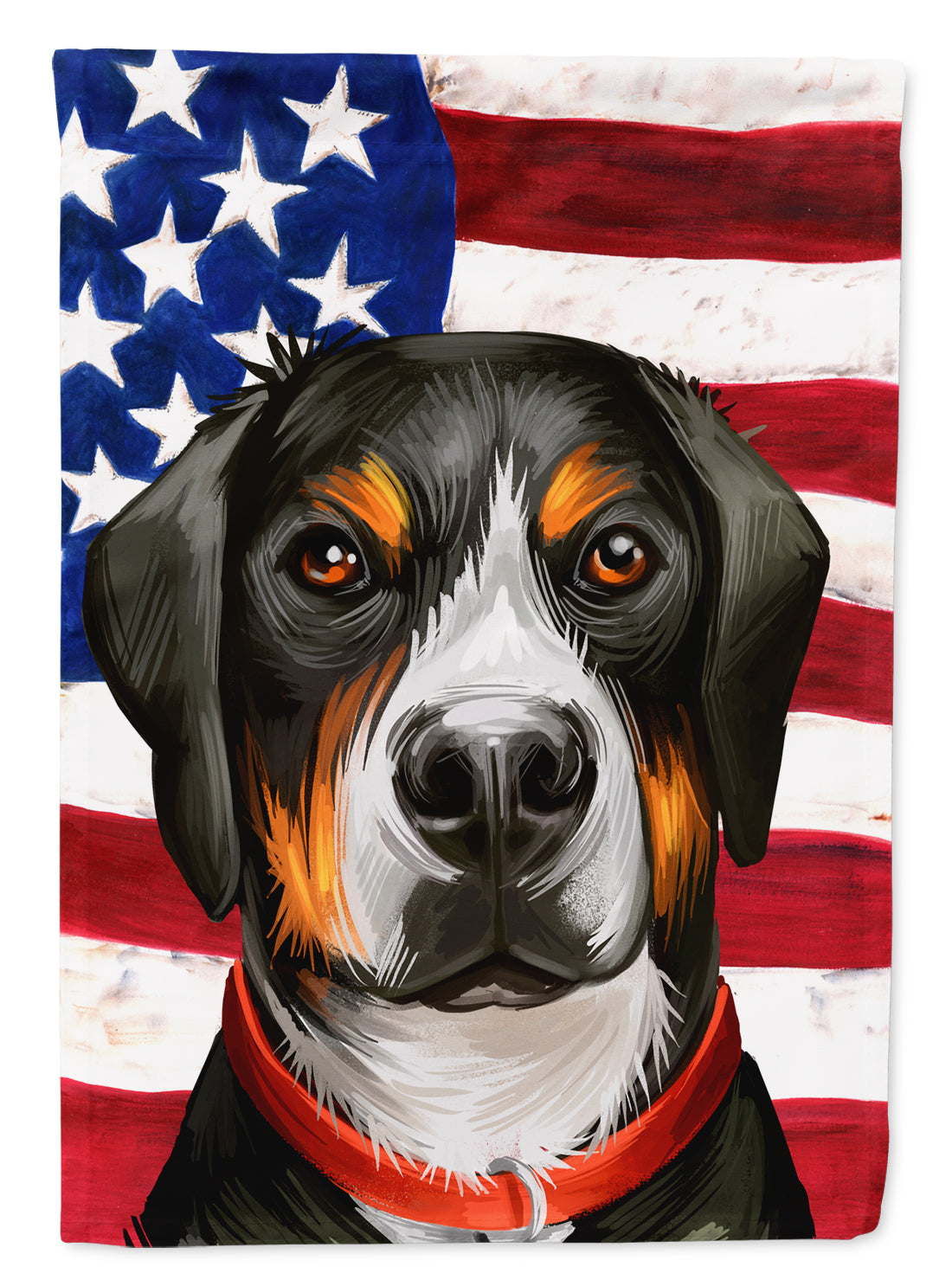 Greater Swiss Mountain Dog American Flag Flag Canvas House Size CK6548CHF by Caroline's Treasures