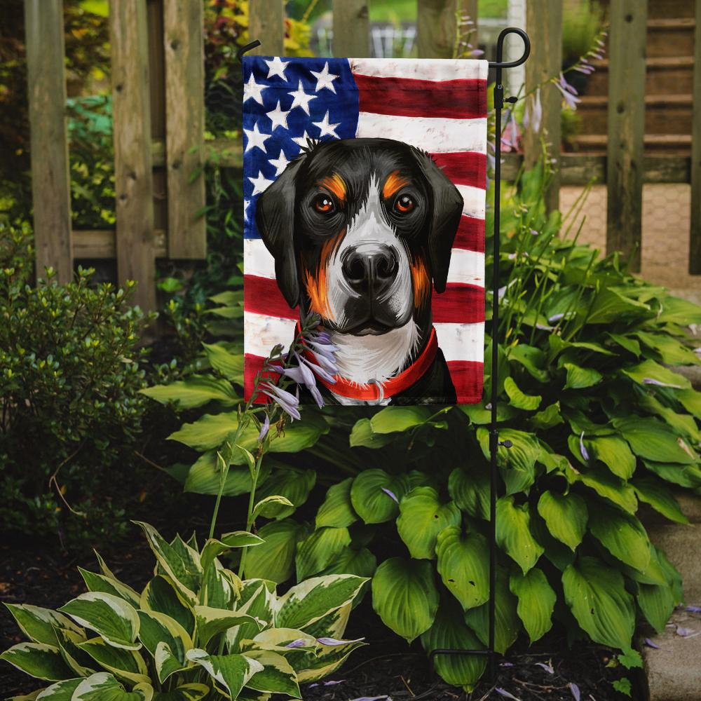 Greater Swiss Mountain Dog American Flag Flag Garden Size CK6548GF by Caroline's Treasures