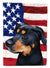 Greek Harehound Dog American Flag Flag Garden Size CK6549GF by Caroline's Treasures