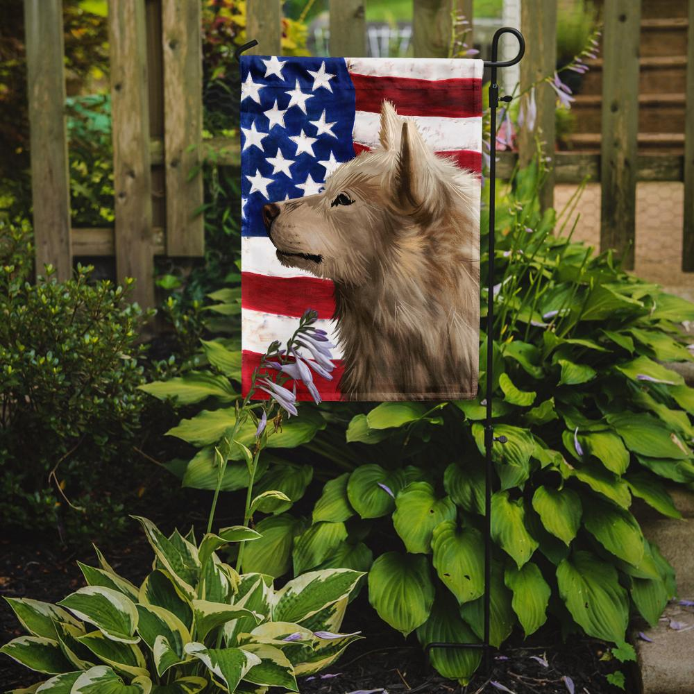 Greenland Dog American Flag Flag Garden Size CK6550GF by Caroline's Treasures