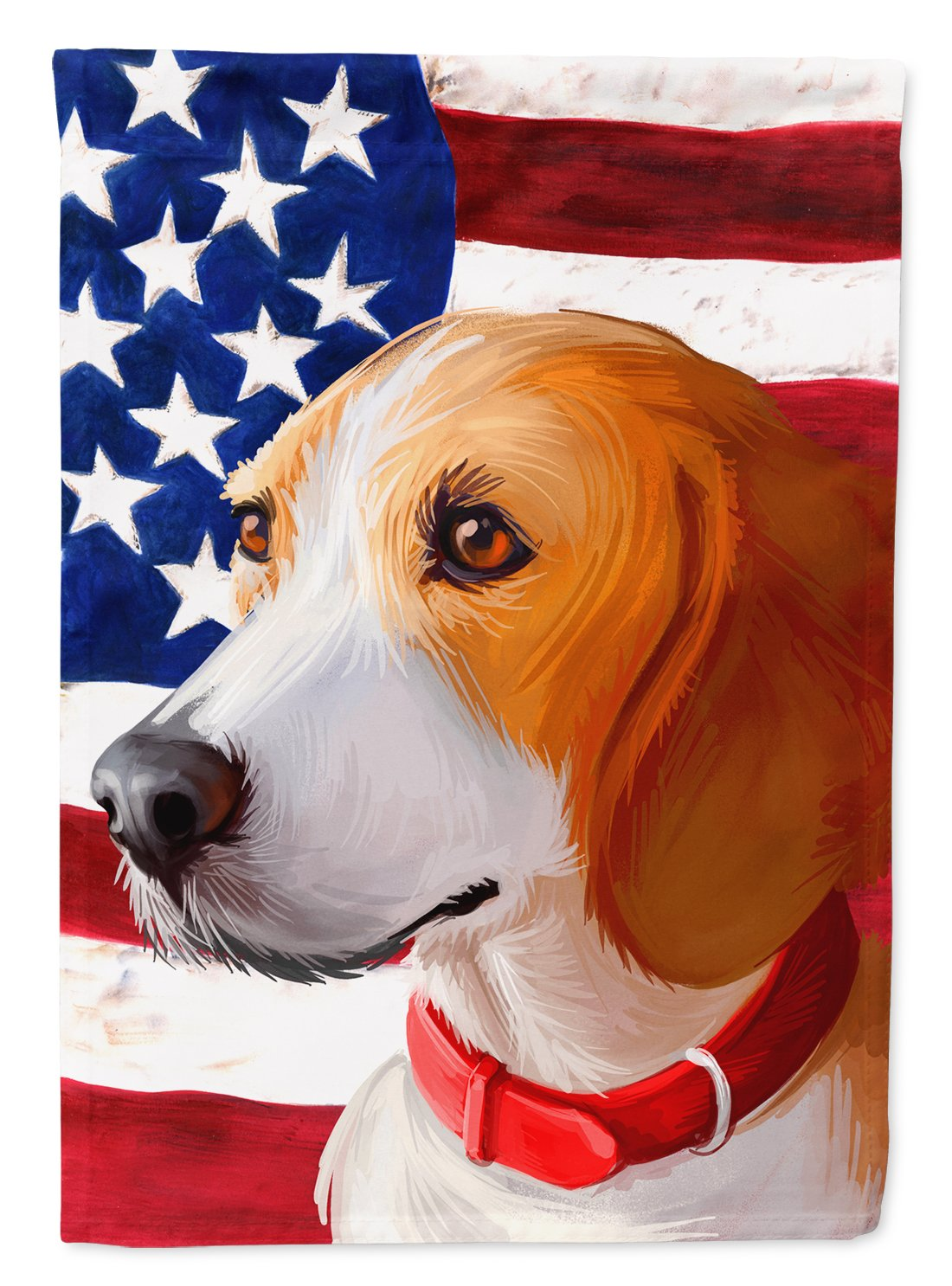 Harrier Dog American Flag Flag Garden Size CK6558GF by Caroline's Treasures