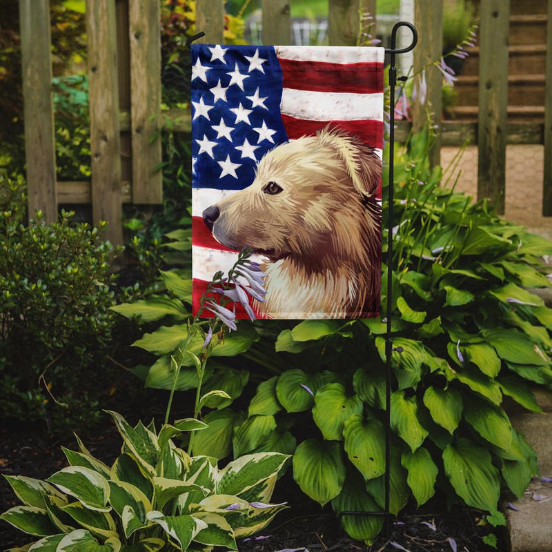 Buy this Himalayan Sheepdog Dog American Flag Flag Garden Size CK6559GF