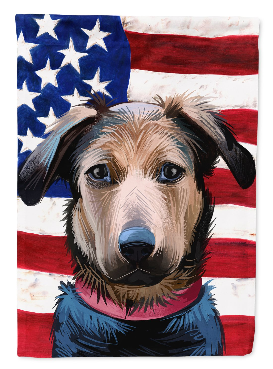 Huntaway Dog American Flag Flag Garden Size CK6562GF by Caroline's Treasures