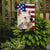 Indian Spitz Dog American Flag Flag Garden Size CK6568GF by Caroline's Treasures