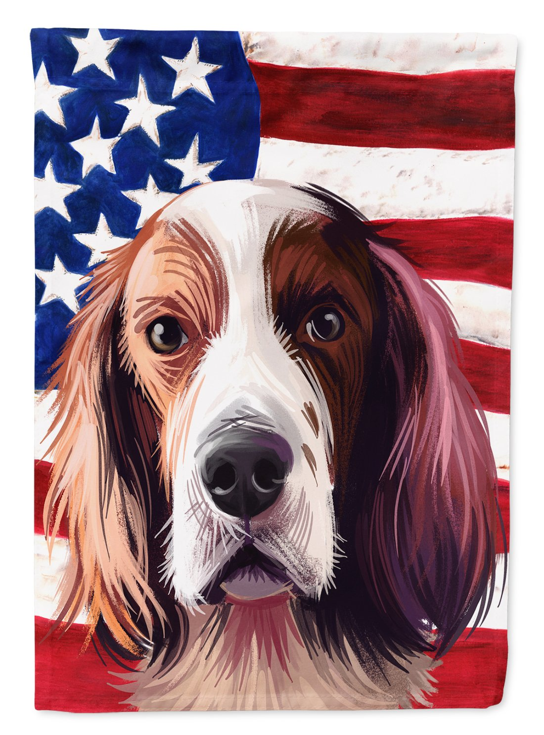 Irish Red and White Setter American Flag Flag Garden Size CK6569GF by Caroline's Treasures