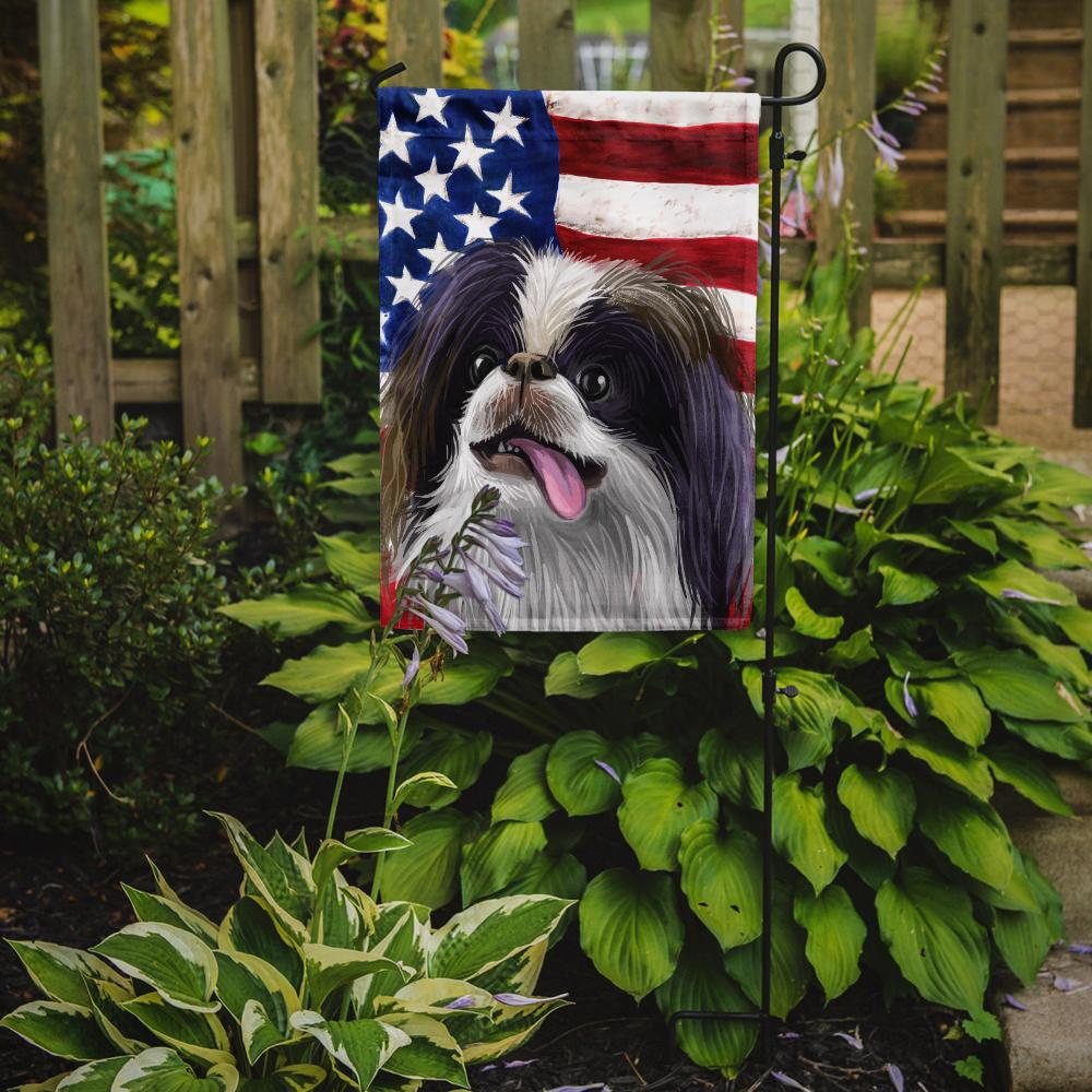 Japanese Chin American Flag Flag Garden Size CK6580GF by Caroline's Treasures