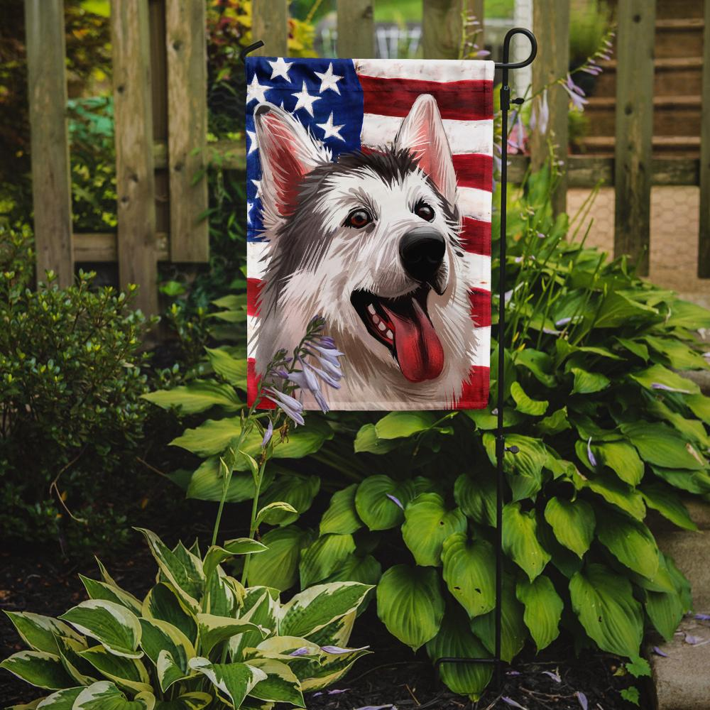 Northern Inuit Dog American Flag Flag Garden Size CK6629GF by Caroline's Treasures