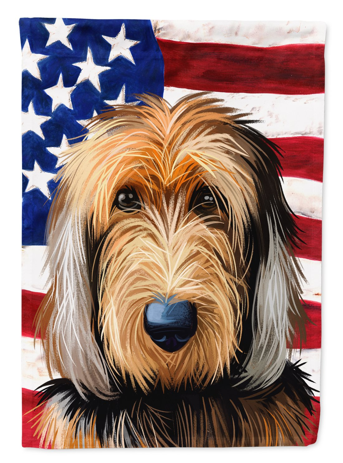 Buy this Otterhound Dog American Flag Flag Garden Size CK6636GF