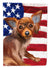 Russian Toy Dog American Flag Flag Garden Size CK6680GF by Caroline's Treasures