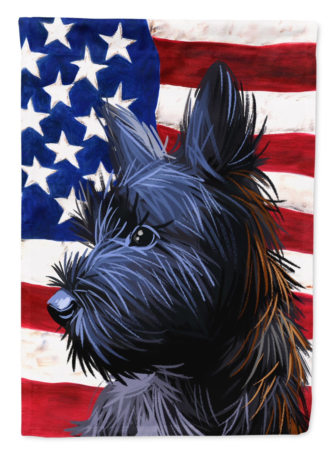 Skye Terrier Dog American Flag Flag Garden Size CK6709GF by Caroline's Treasures