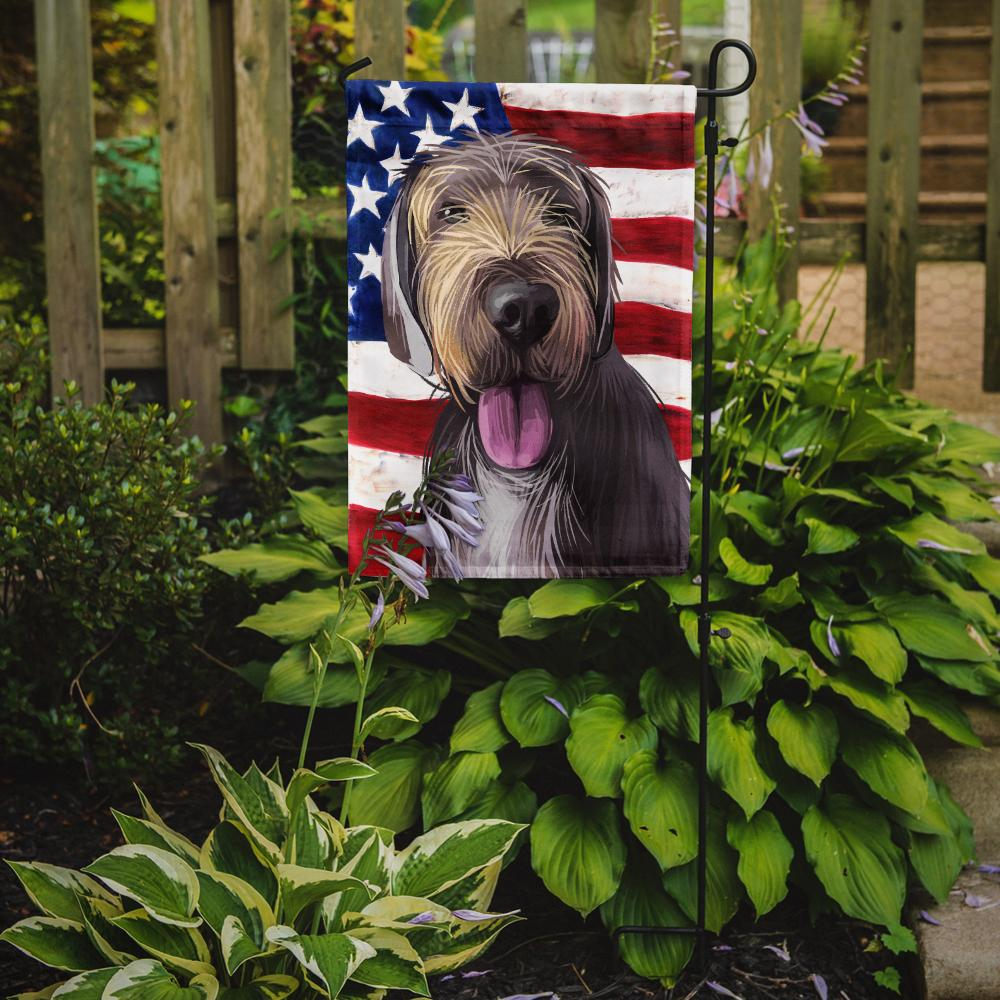 Buy this Slovak Rough-haired Pointer American Flag Flag Garden Size CK6712GF