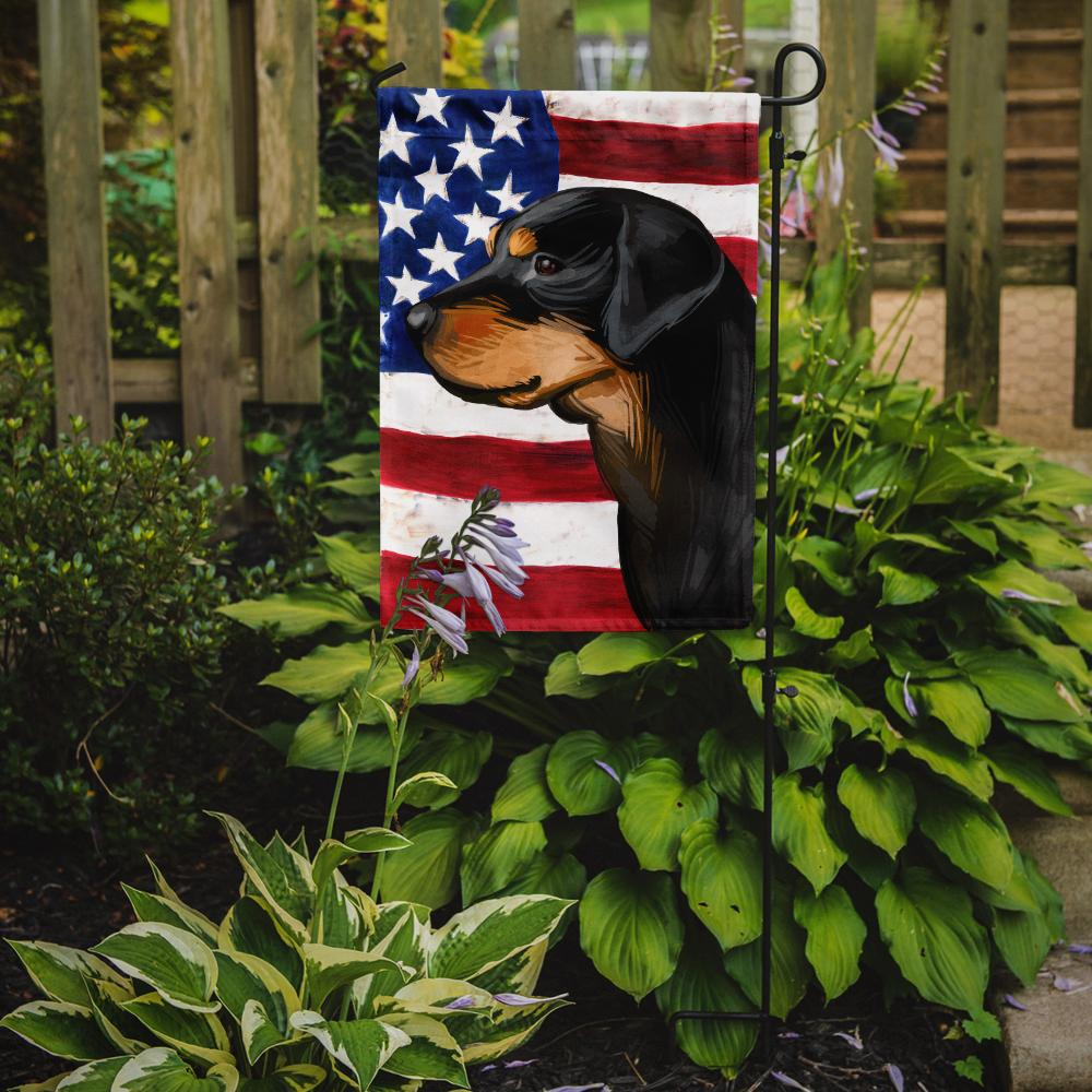 Smaland Hound Dog American Flag Flag Garden Size CK6714GF by Caroline's Treasures
