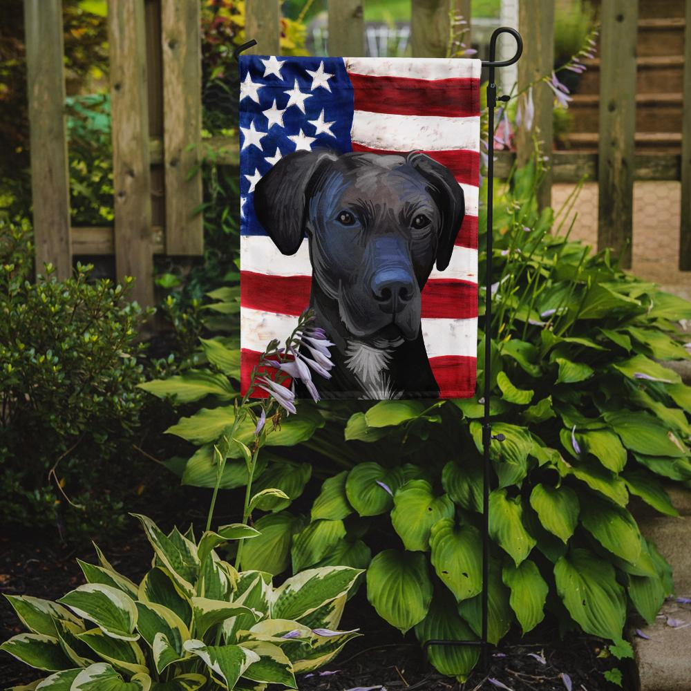 Stephens Cur Dog American Flag Flag Garden Size CK6727GF by Caroline's Treasures