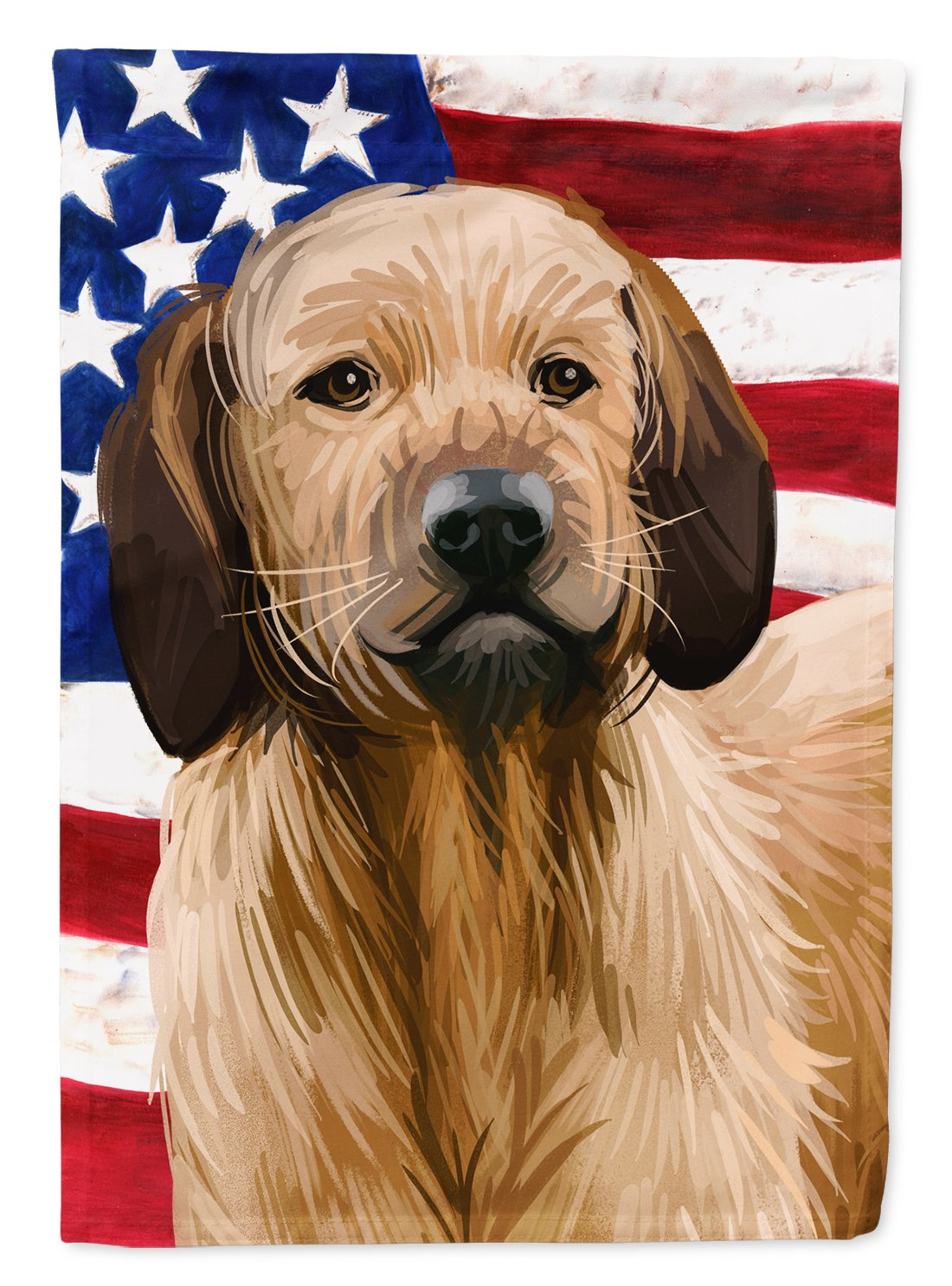 Styrian Coarse-haired Hound American Flag Flag Garden Size CK6728GF by Caroline's Treasures
