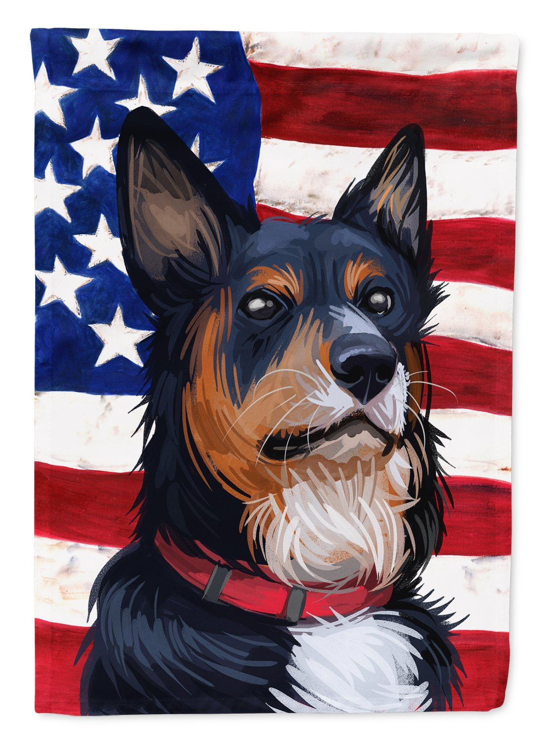 Welsh Sheepdog American Flag Flag Garden Size CK6752GF by Caroline's Treasures