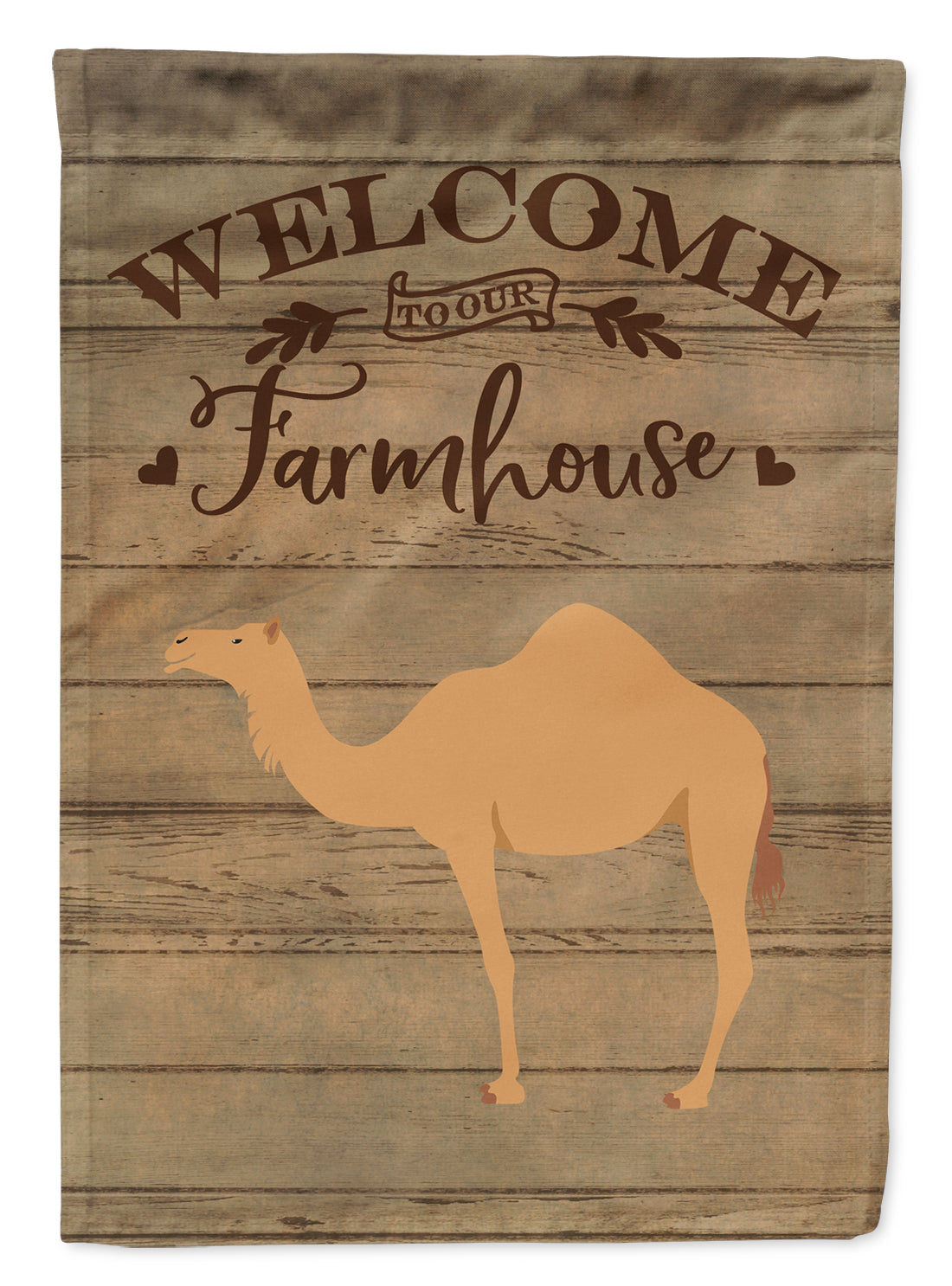 Arabian Camel Dromedary Welcome Flag Canvas House Size CK6761CHF by Caroline's Treasures