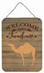 Arabian Camel Dromedary Welcome Wall or Door Hanging Prints CK6761DS1216 by Caroline's Treasures