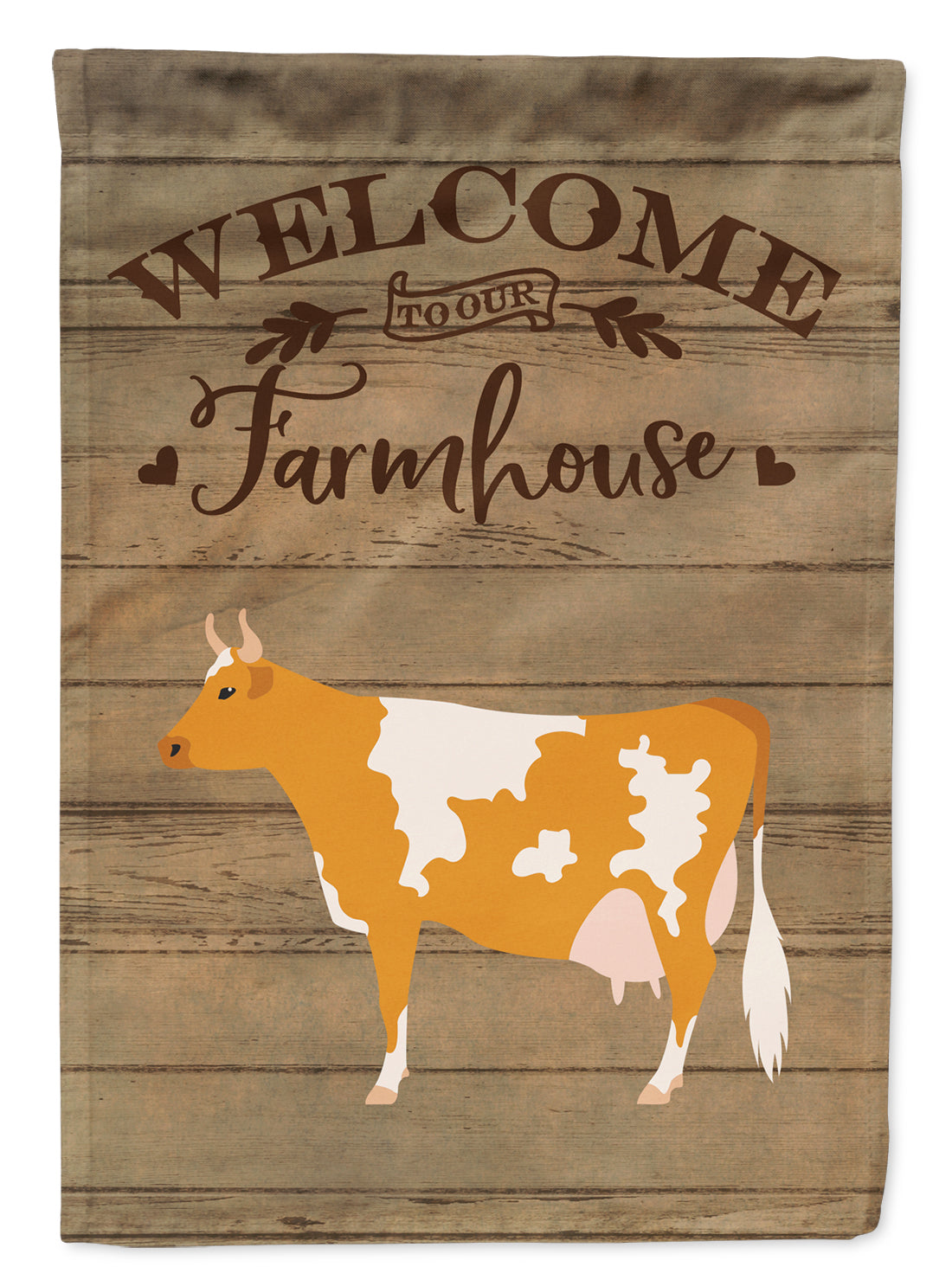 Guernsey Cow Welcome Flag Canvas House Size CK6765CHF by Caroline's Treasures